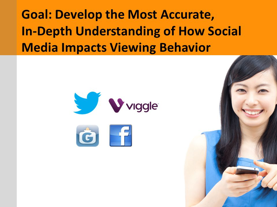 Goal: Develop the Most Accurate, In-Depth Understanding of How Social Media Impacts Viewing Behavior