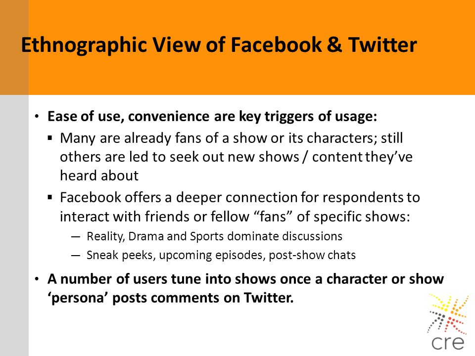 Ethnographic View of Facebook & Twitter