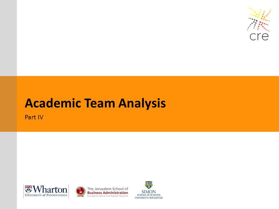 Academic Team Analysis