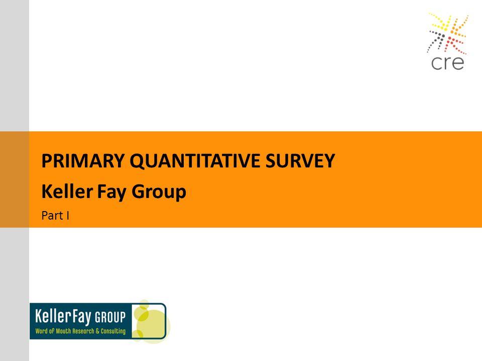 PRIMARY QUANTITATIVE SURVEY Keller Fay Group