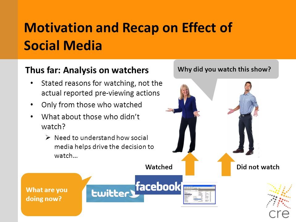 Motivation and Recap on Effect of Social Media