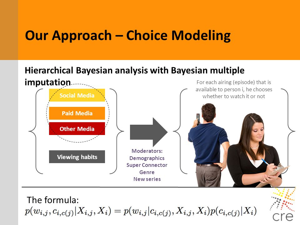Our Approach – Choice Modeling