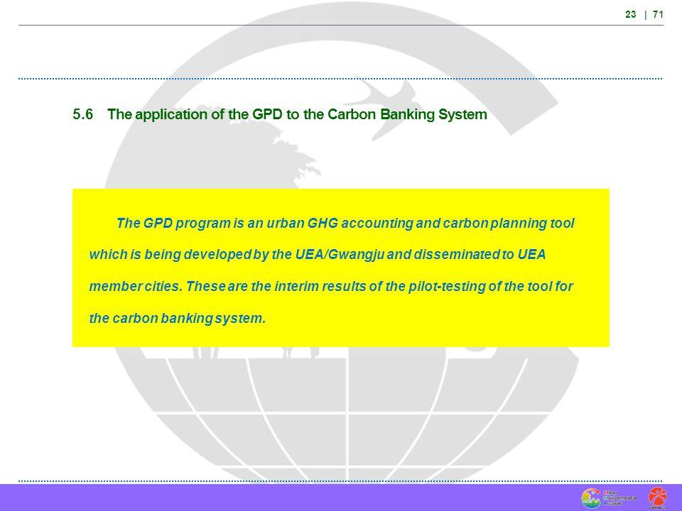 5.6 The application of the GPD to the Carbon Banking System