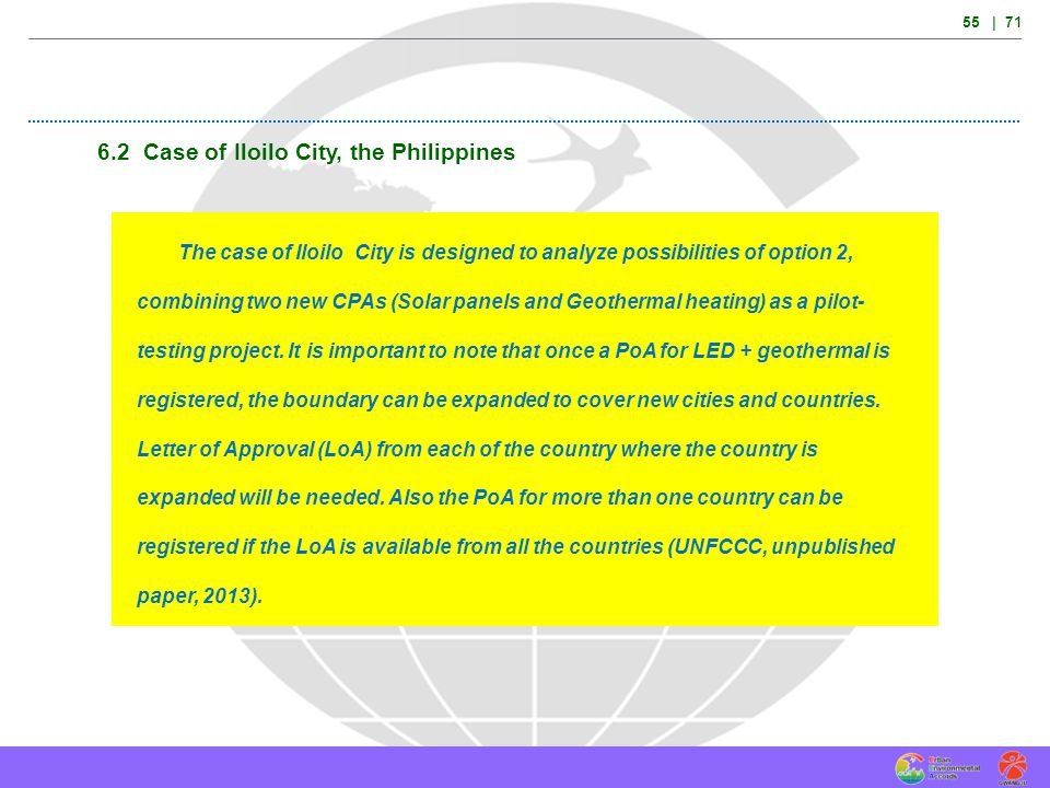 6.2 Case of Iloilo City, the Philippines