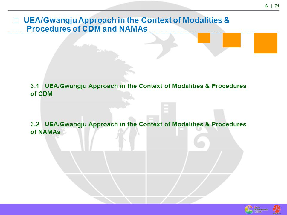 Ⅲ UEA/Gwangju Approach in the Context of Modalities &