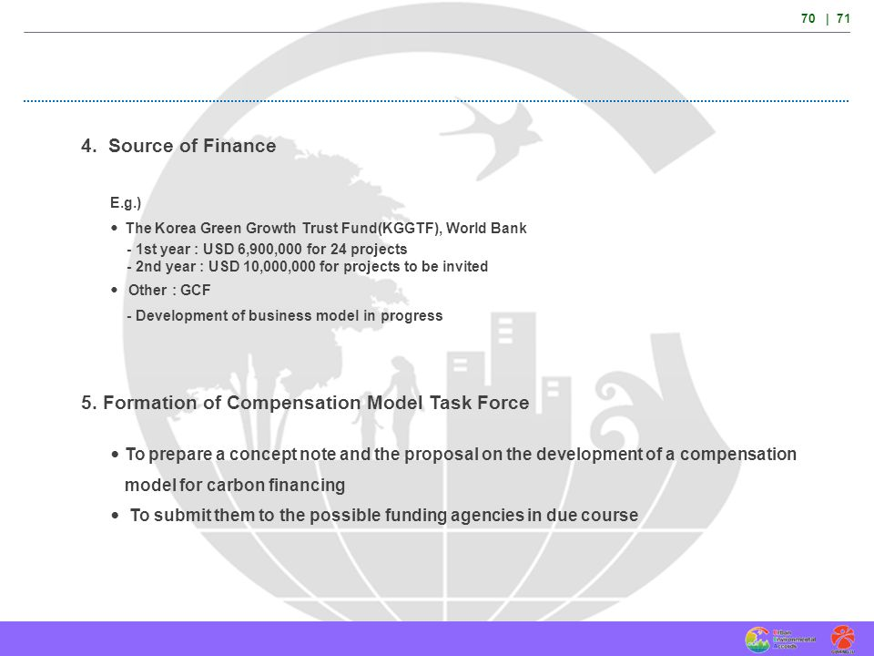 5. Formation of Compensation Model Task Force