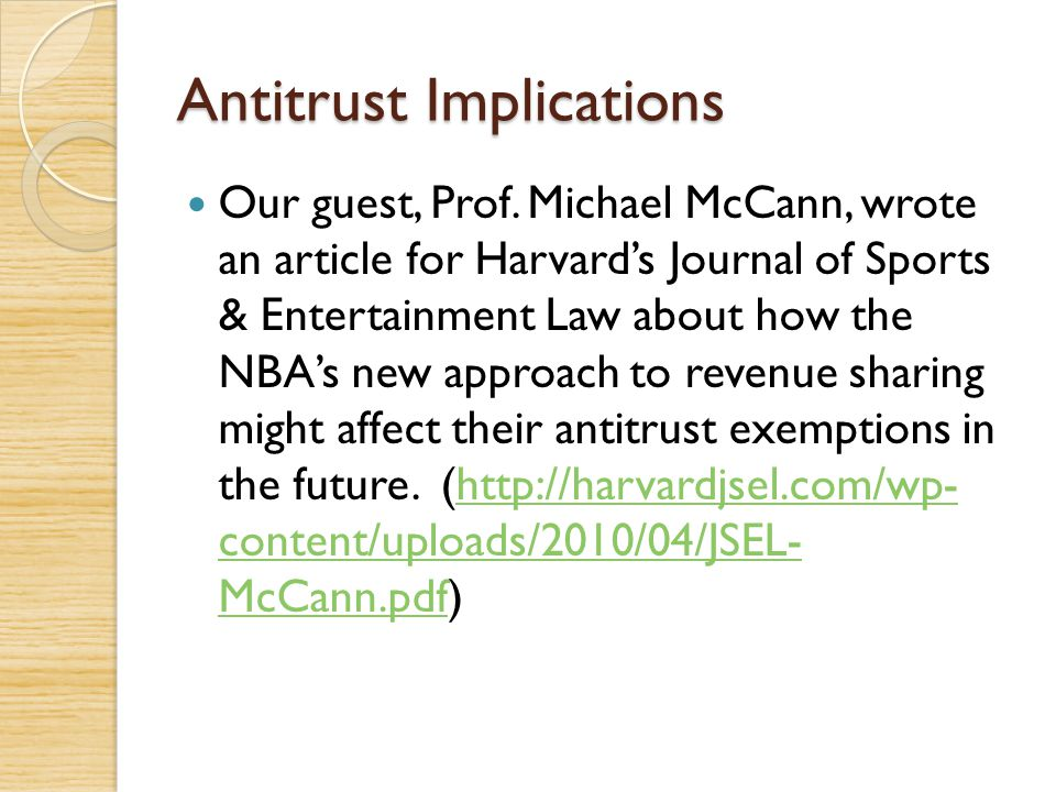 Antitrust Implications