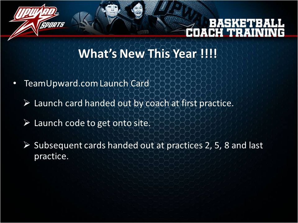 What's New This Year !!!! TeamUpward.com Launch Card