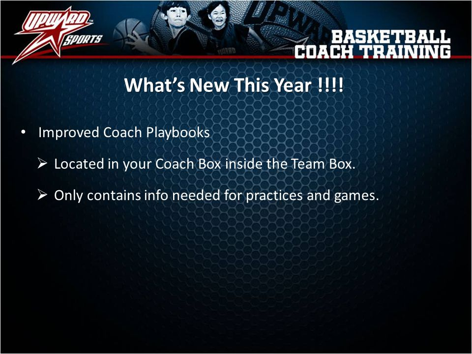 What's New This Year !!!! Improved Coach Playbooks