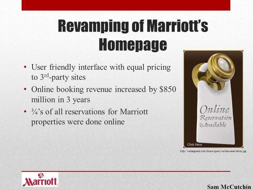 Revamping of Marriott's Homepage