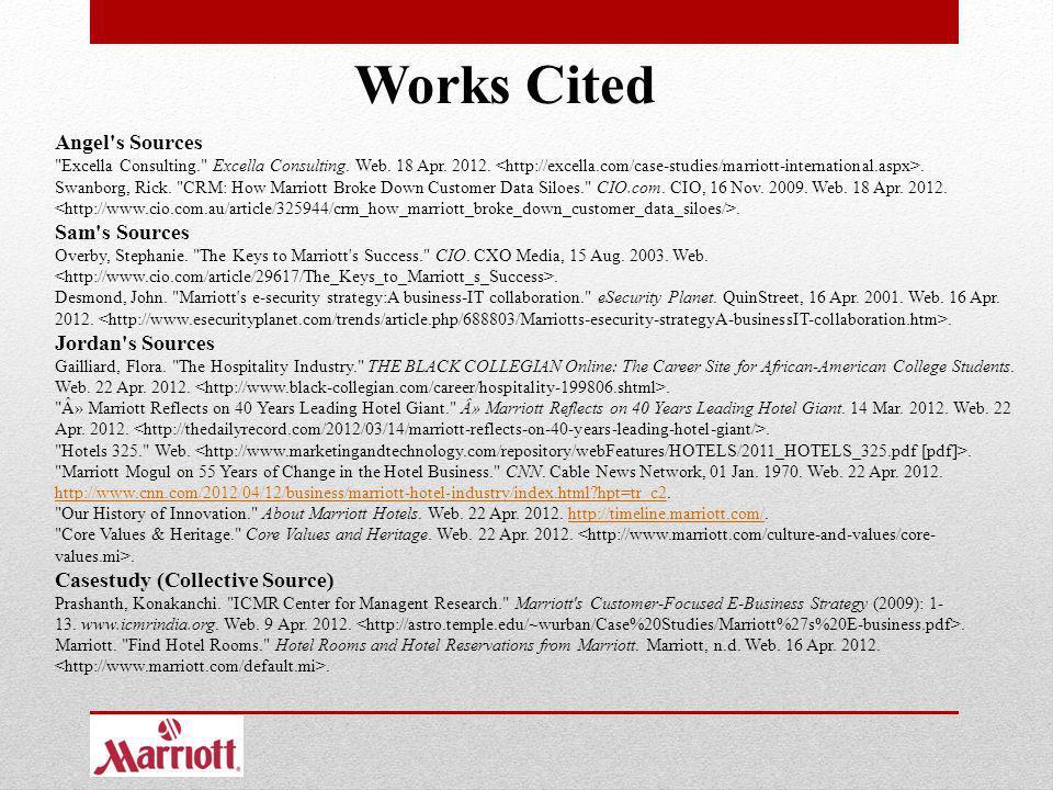 Works Cited Angel s Sources Sam s Sources Jordan s Sources