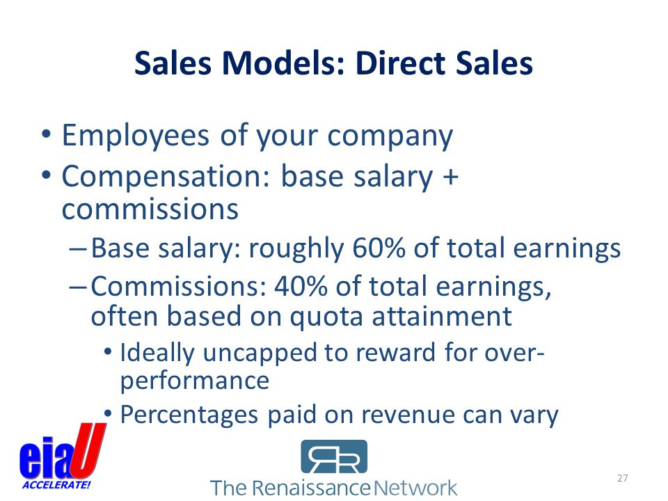 Sales Models: Direct Sales
