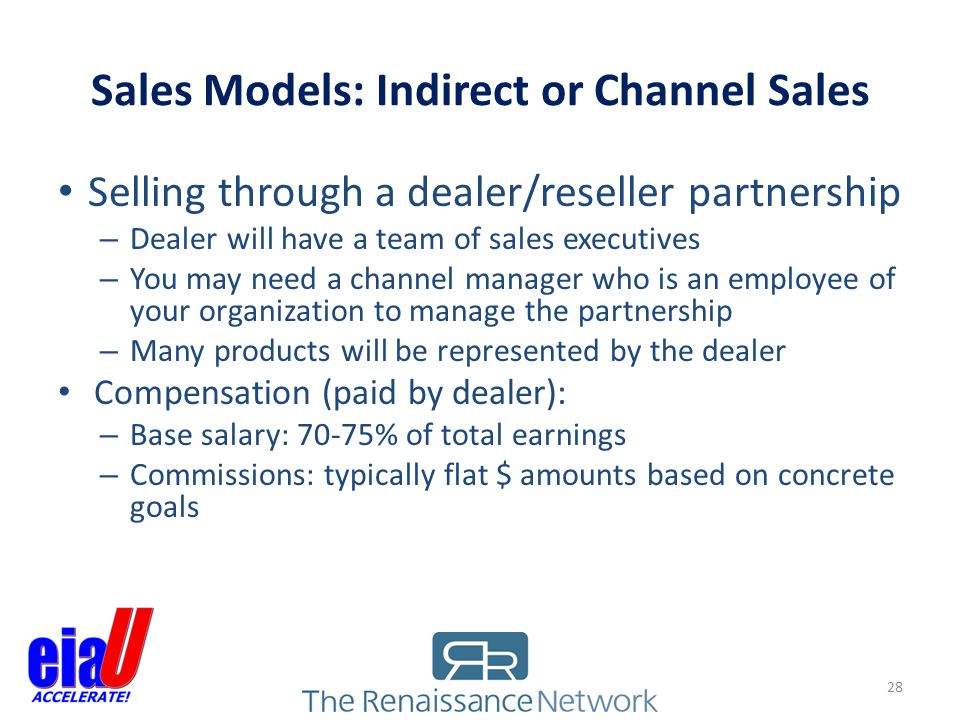 Sales Models: Indirect or Channel Sales