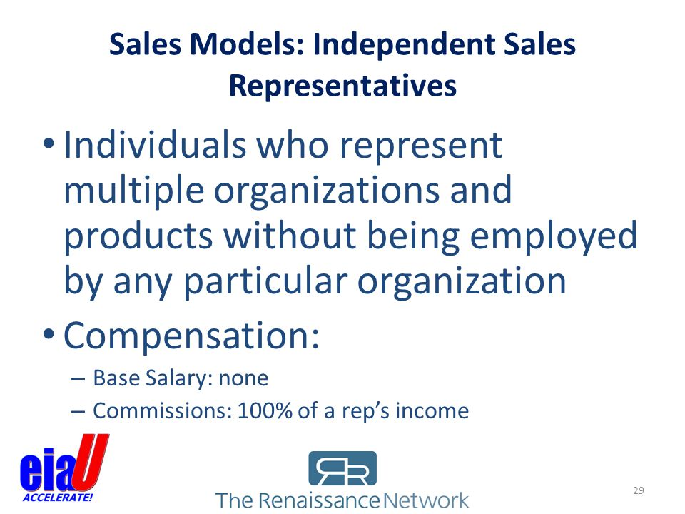 Sales Models: Independent Sales Representatives