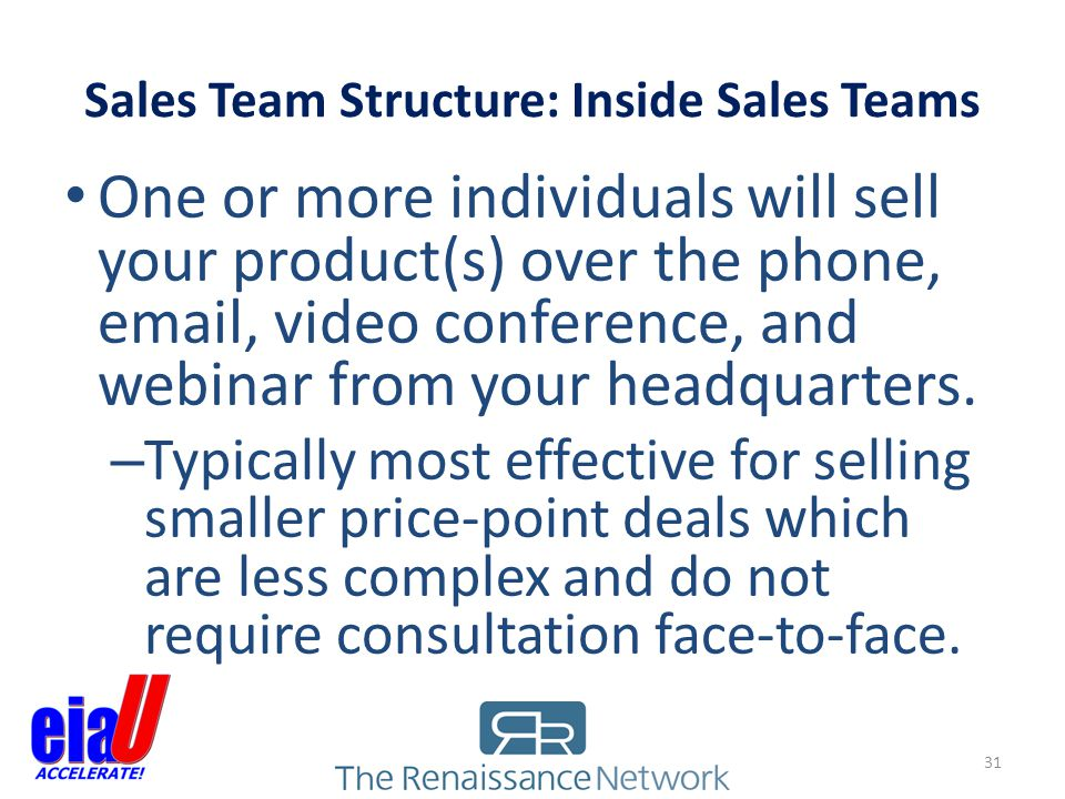 Sales Team Structure: Inside Sales Teams