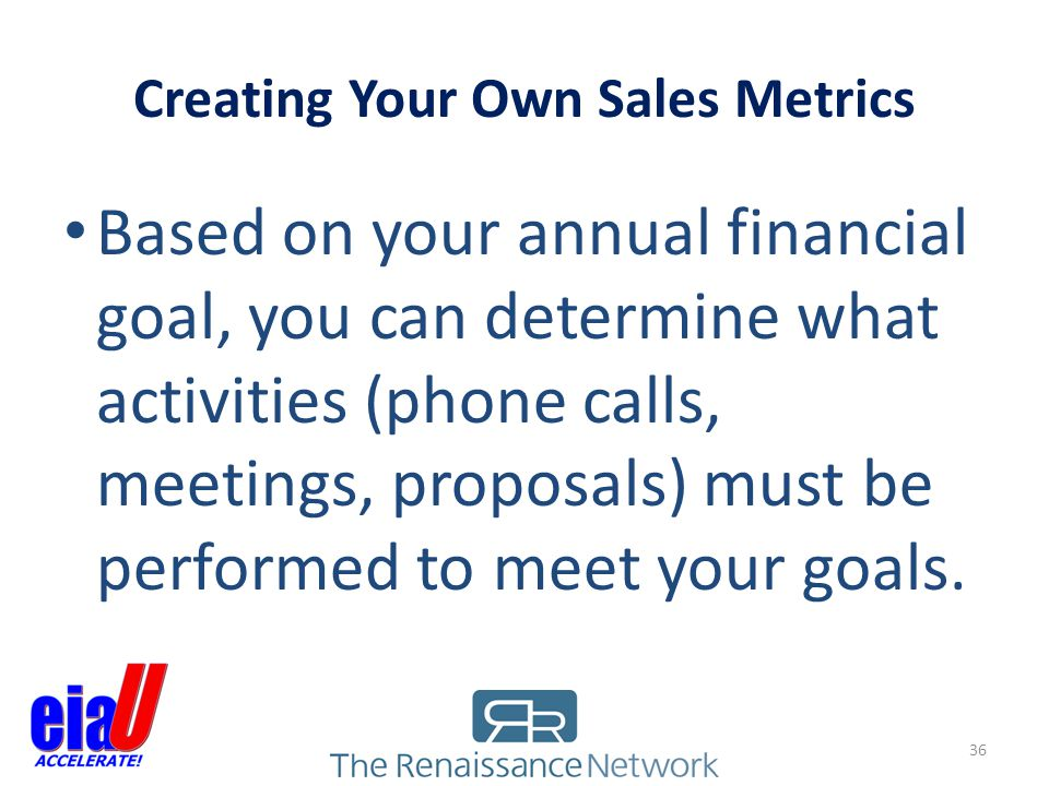 Creating Your Own Sales Metrics