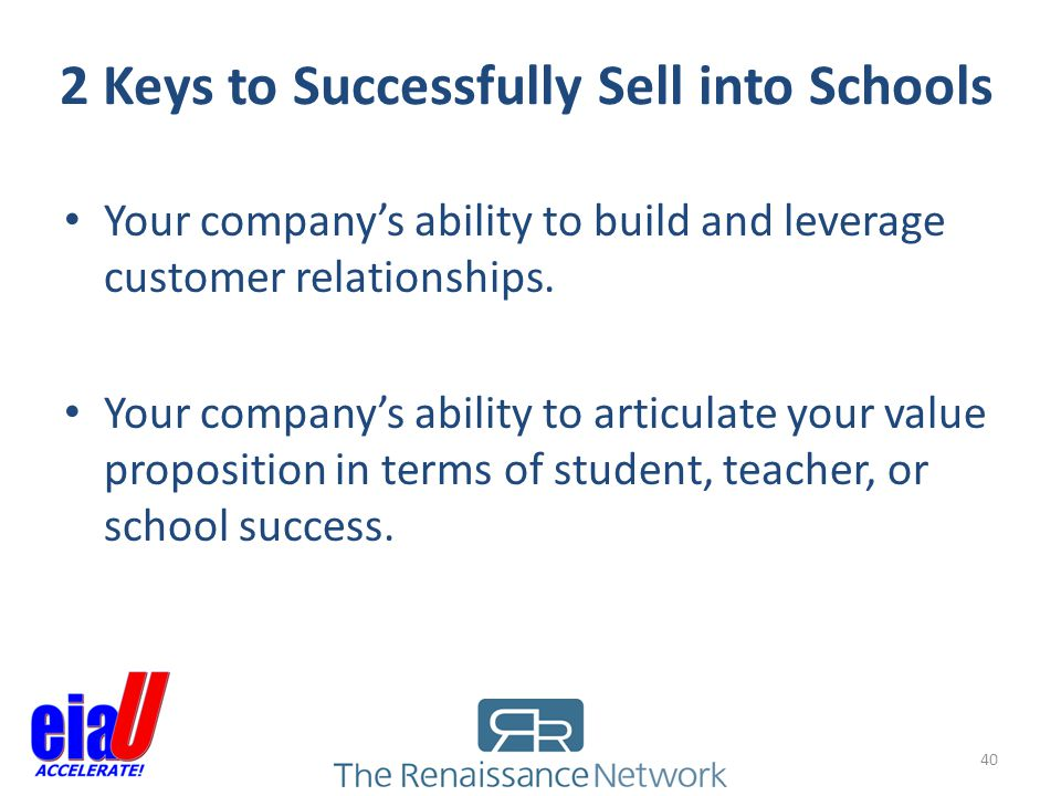2 Keys to Successfully Sell into Schools