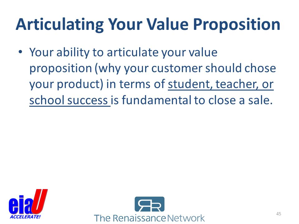 Articulating Your Value Proposition