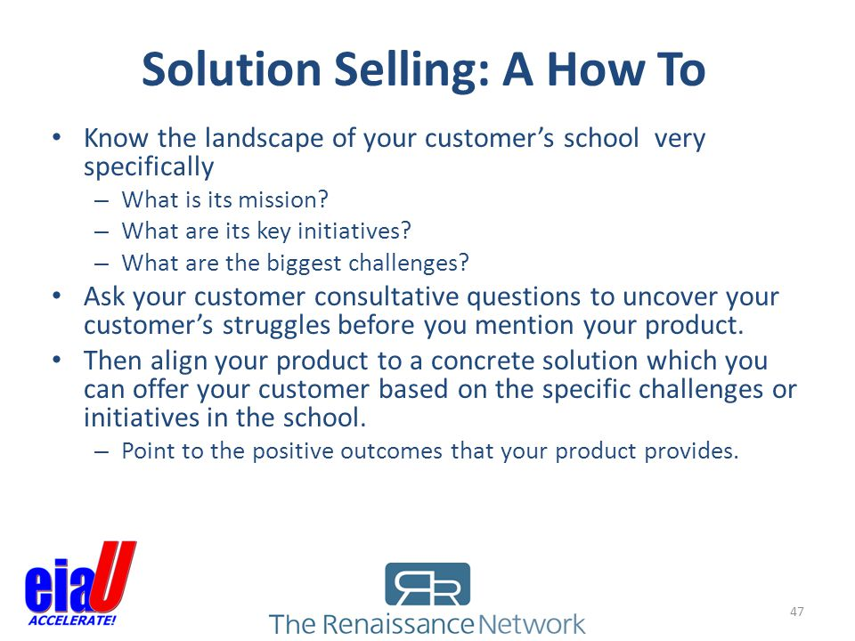 Solution Selling: A How To