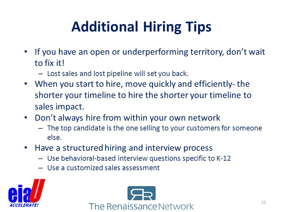 Additional Hiring Tips