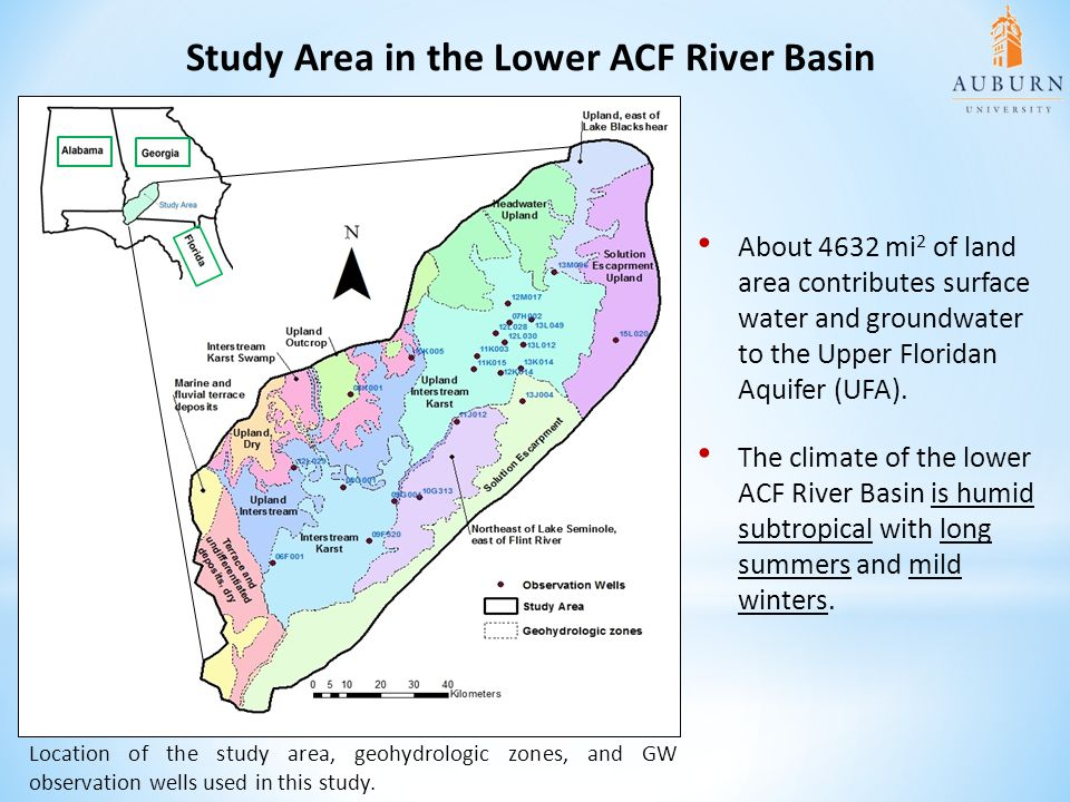 Study Area in the Lower ACF River Basin