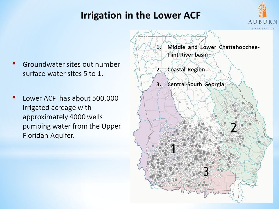 Irrigation in the Lower ACF