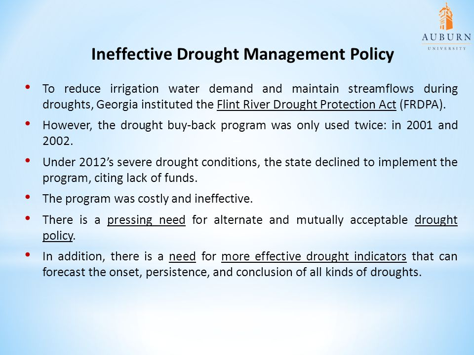 Ineffective Drought Management Policy