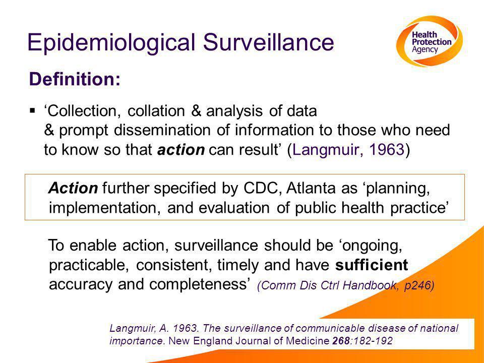 Epidemiological Surveillance