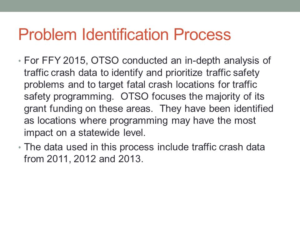 Problem Identification Process