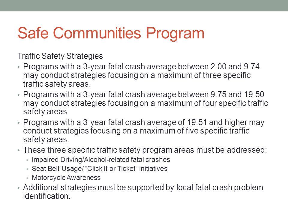 Safe Communities Program