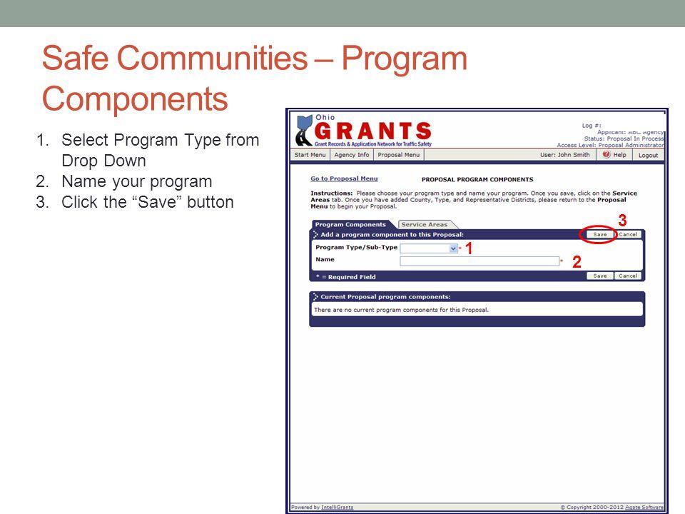 Safe Communities – Program Components