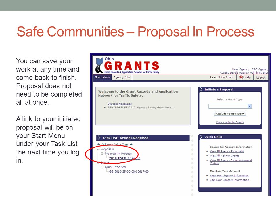 Safe Communities – Proposal In Process