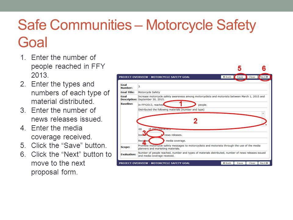 Safe Communities – Motorcycle Safety Goal