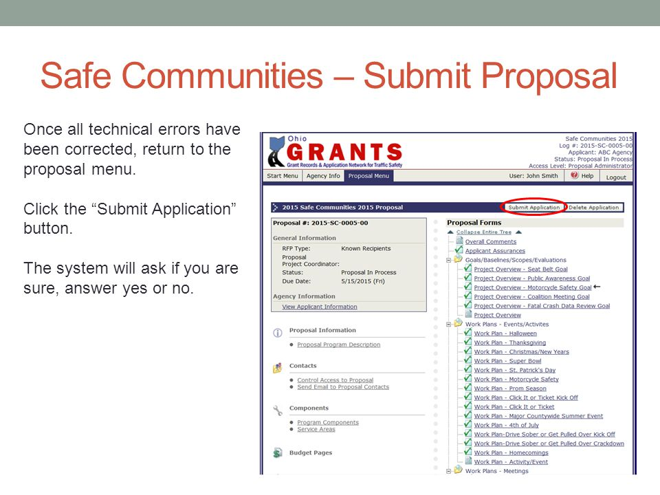 Safe Communities – Submit Proposal