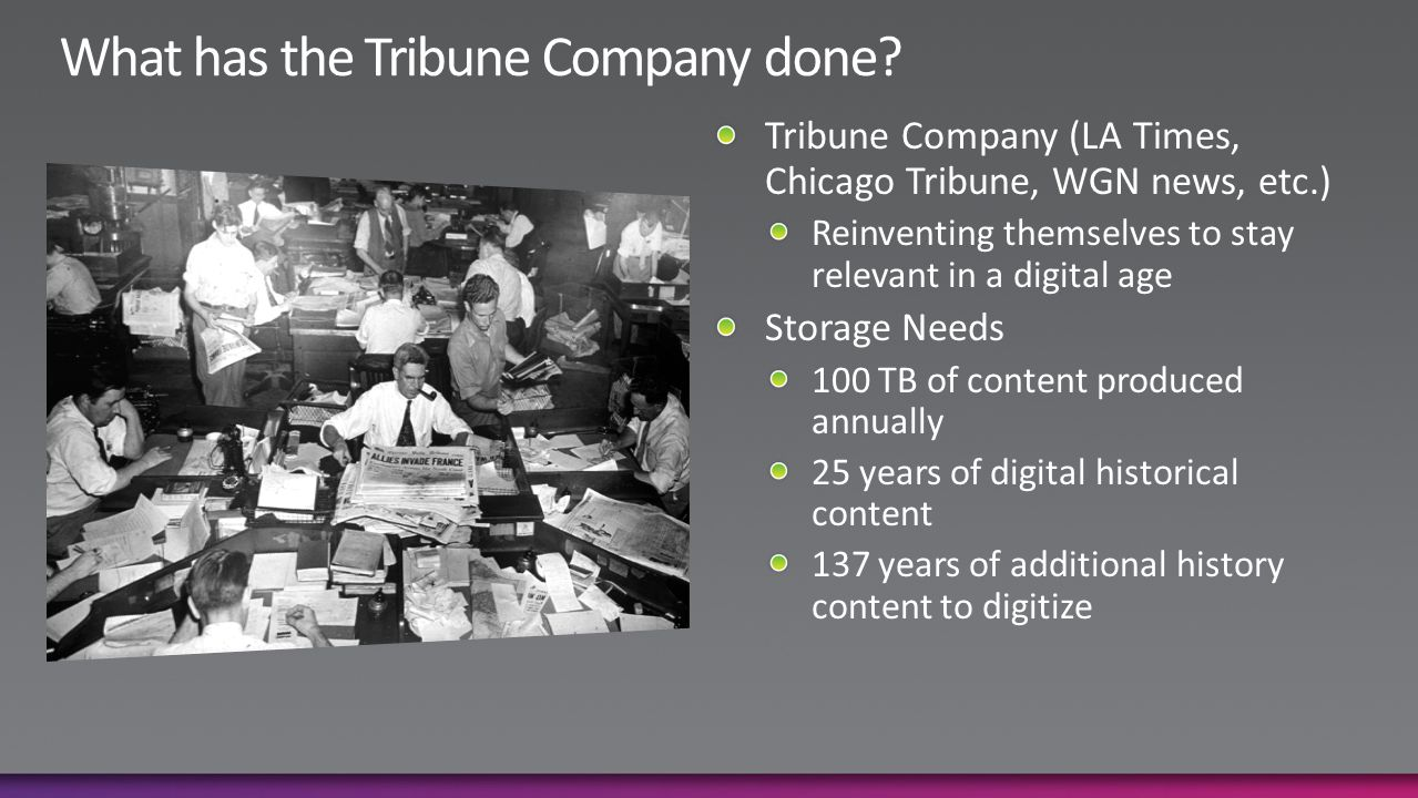 What has the Tribune Company done