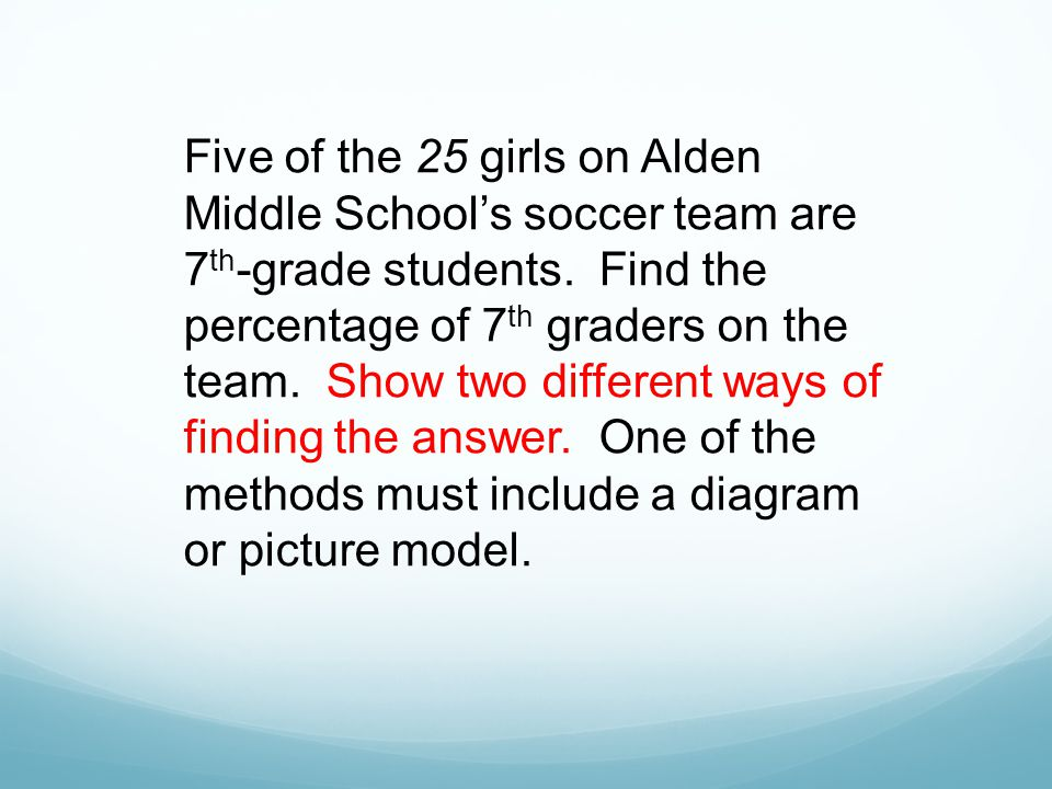 Five of the 25 girls on Alden Middle School's soccer team are 7th-grade students.