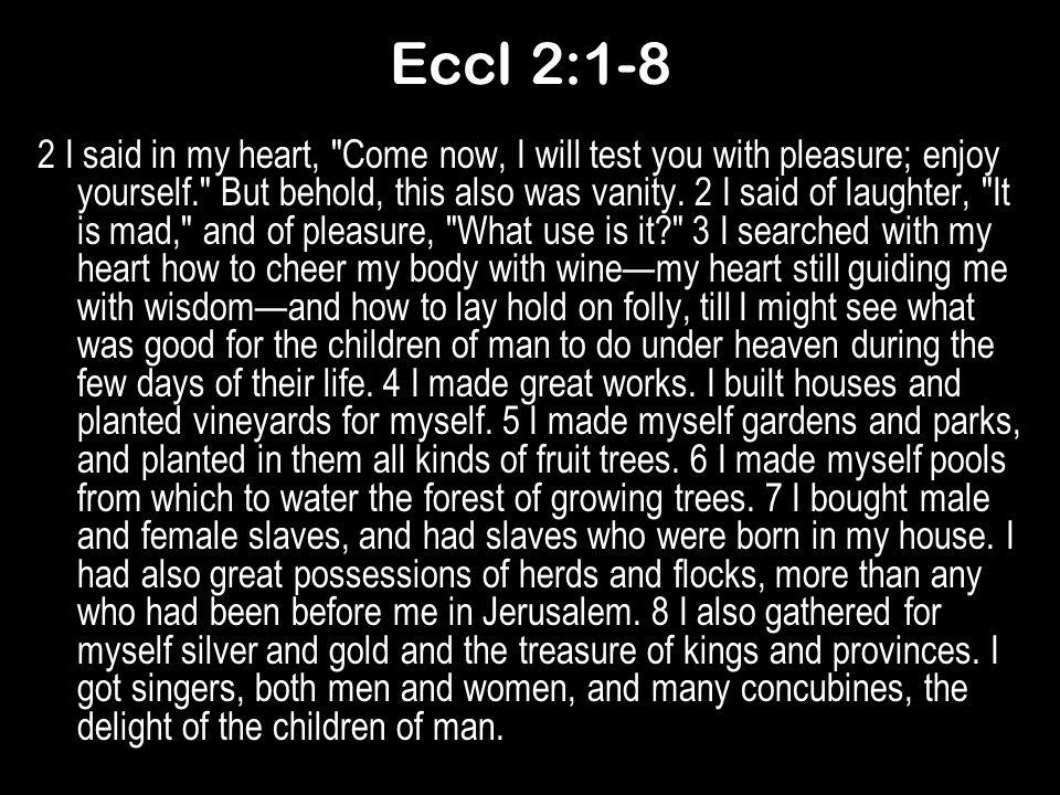 Eccl 2:1-8