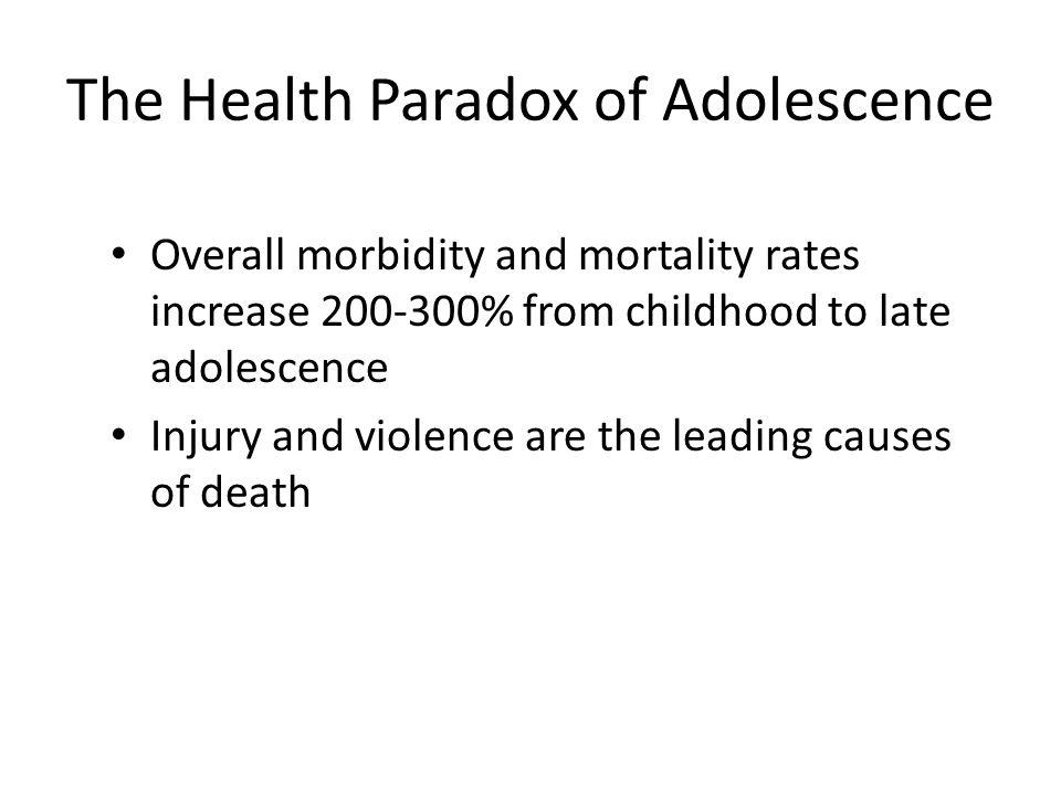 The Health Paradox of Adolescence