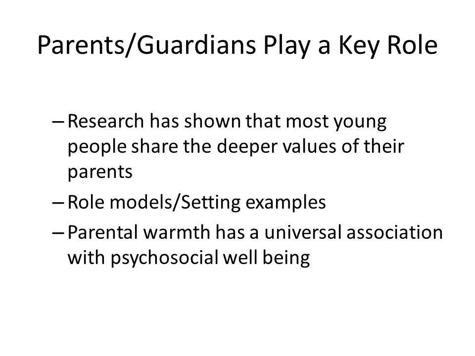 Parents/Guardians Play a Key Role