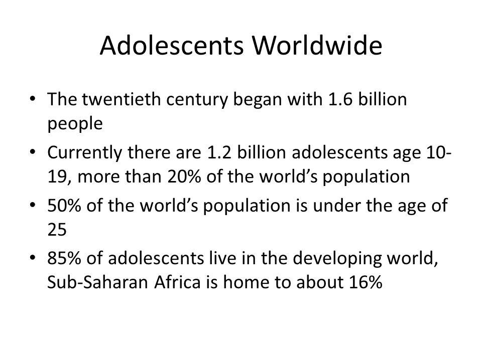 Adolescents Worldwide