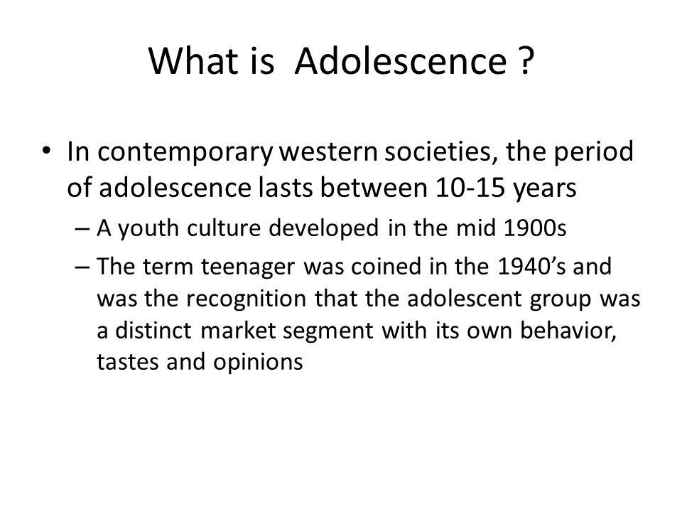 What is Adolescence In contemporary western societies, the period of adolescence lasts between 10-15 years.