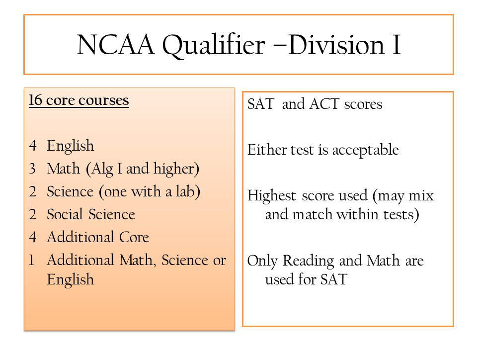 NCAA Qualifier –Division I