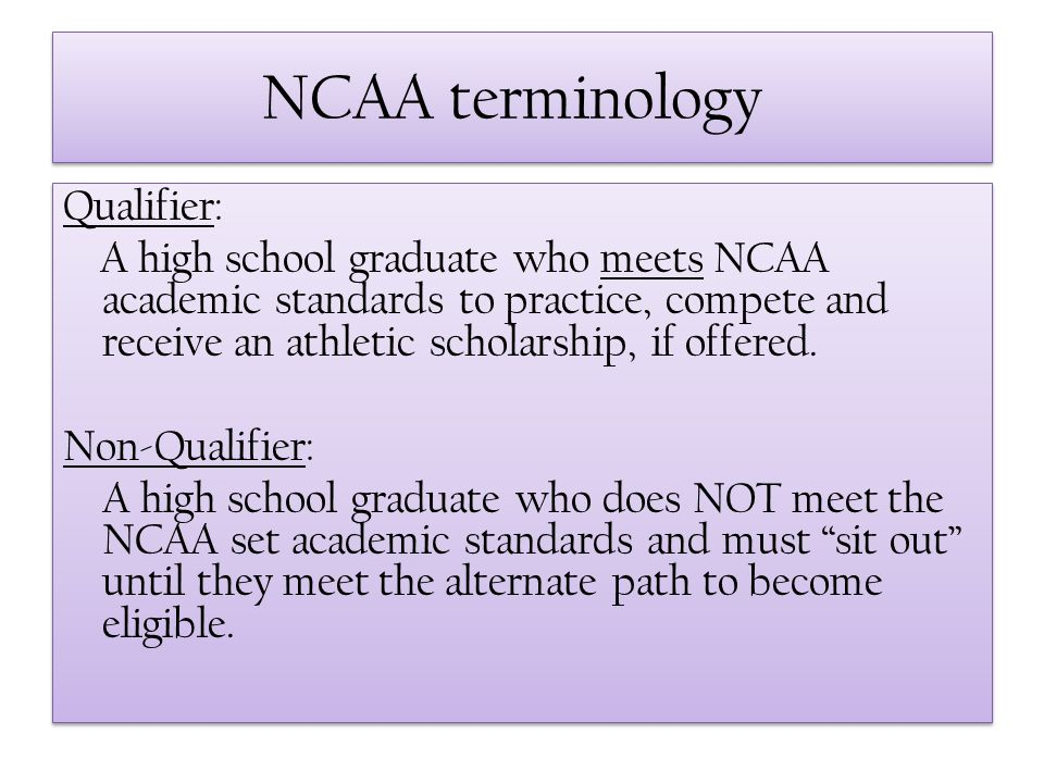 NCAA terminology