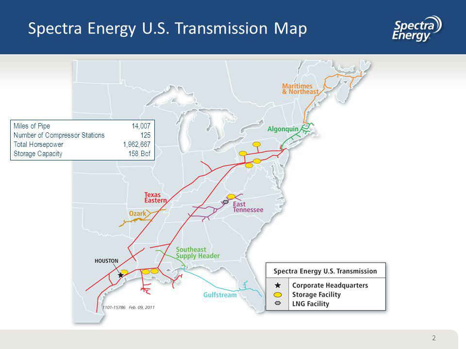 Spectra Energy U.S. Transmission Map