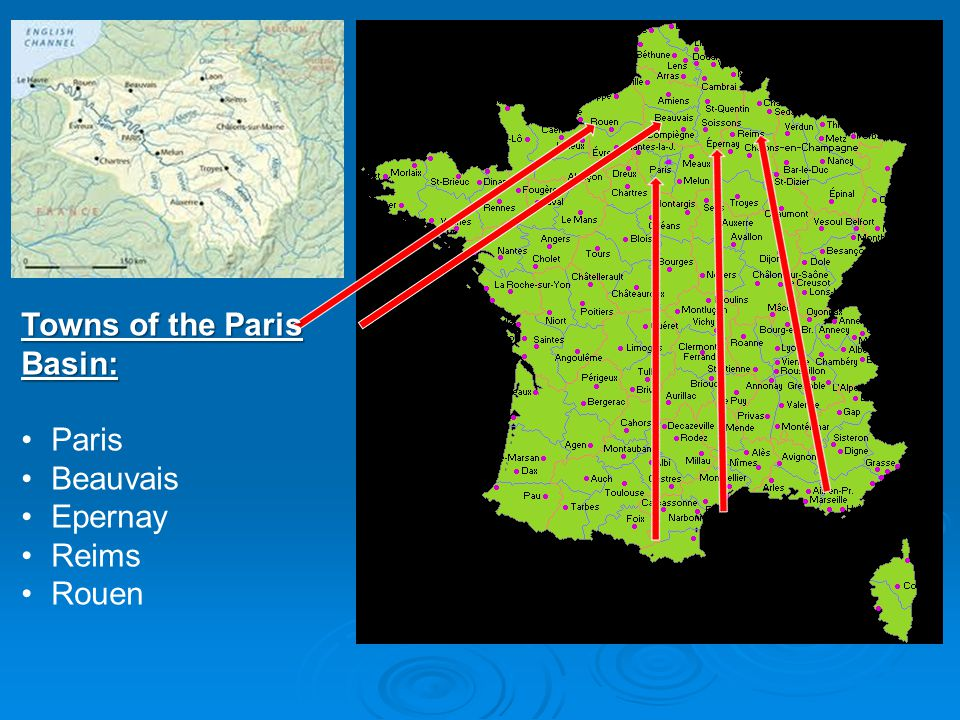 Towns of the Paris Basin: