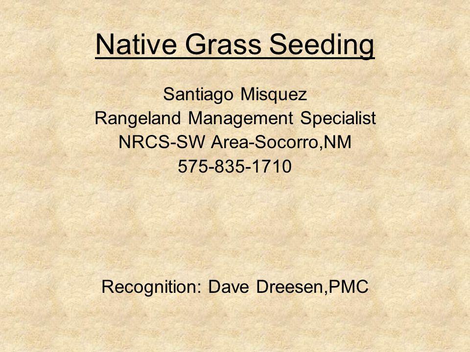 Native Grass Seeding Santiago Misquez Rangeland Management Specialist