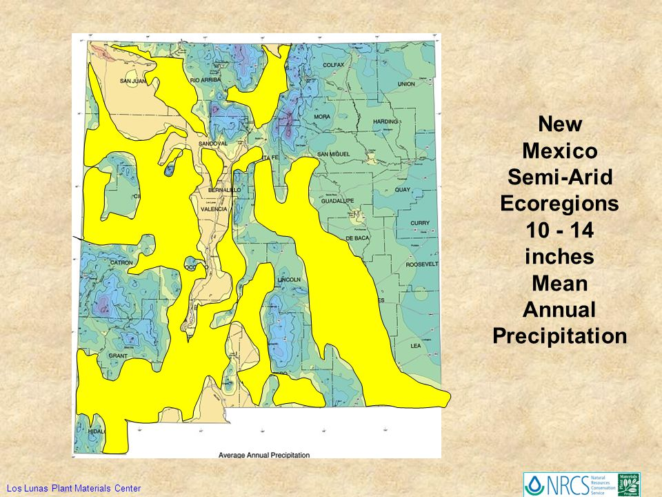 New Mexico Semi-Arid Ecoregions 10 - 14 inches Mean Annual Precipitation