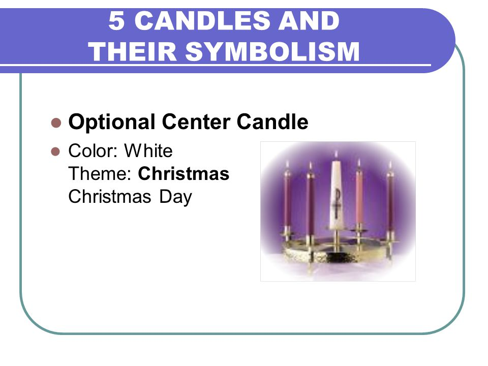 5 CANDLES AND THEIR SYMBOLISM