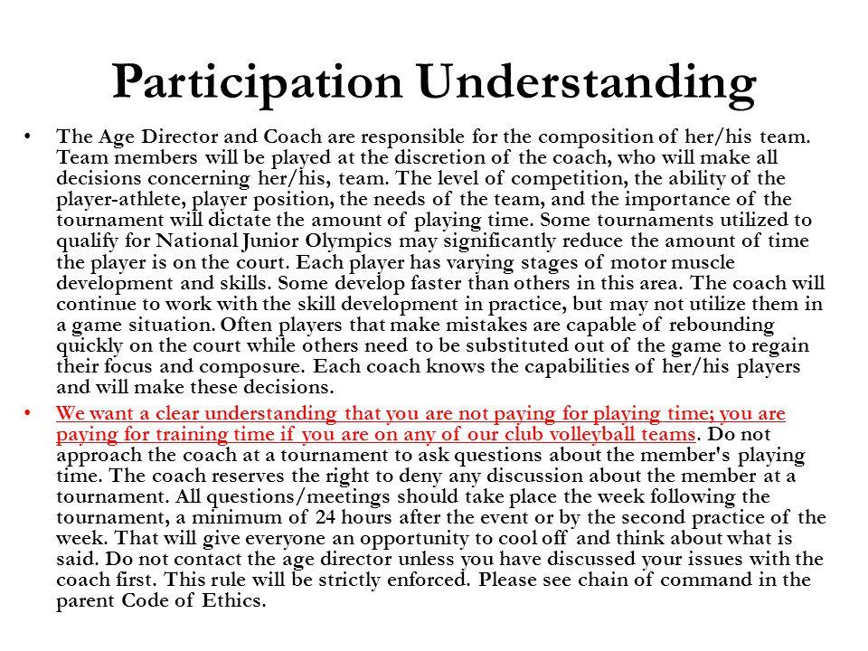 Participation Understanding