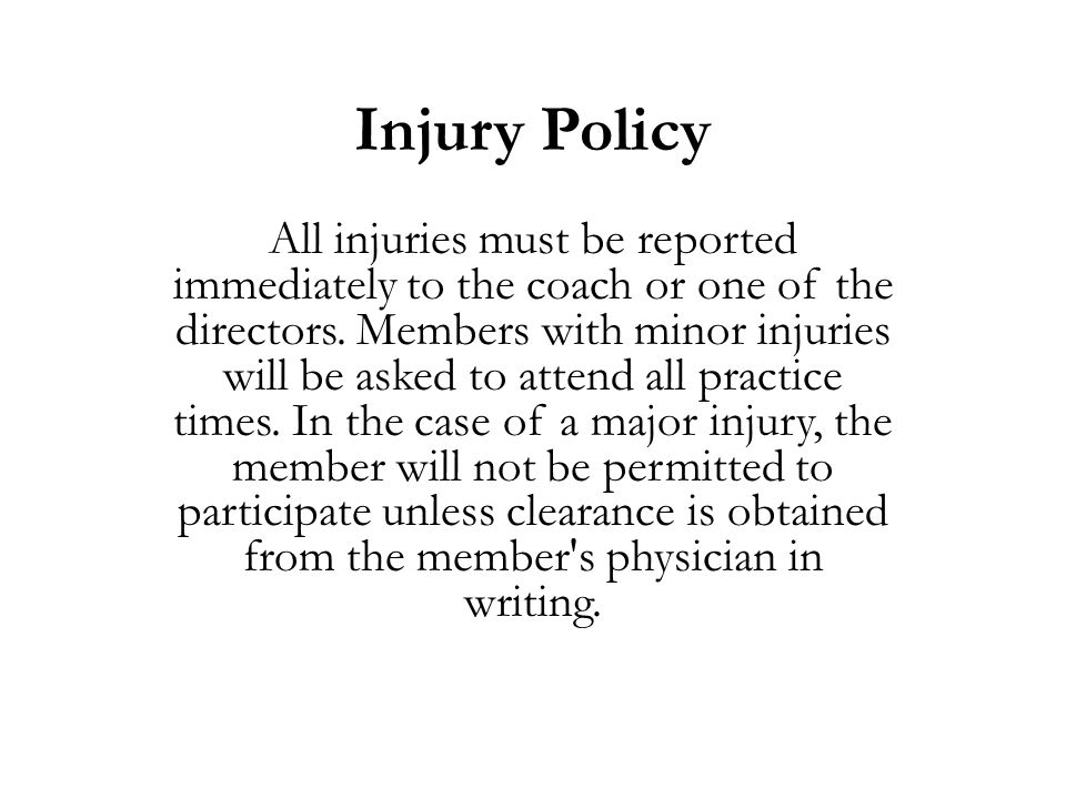 Injury Policy
